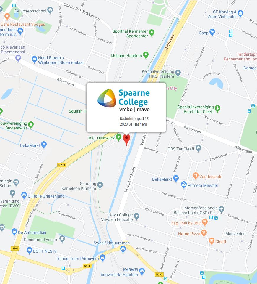 Locatie Spaarne College